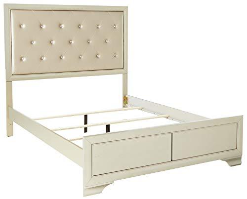Coaster Home Furnishings Platform Bed, 63.25'W x 83.75'D x 59.75'H, Cream/Champagne