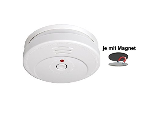 SMARTWARES Rauchmelder reinweiß mit Magnethalter, 85dB Alarm, RM149 RMAG2