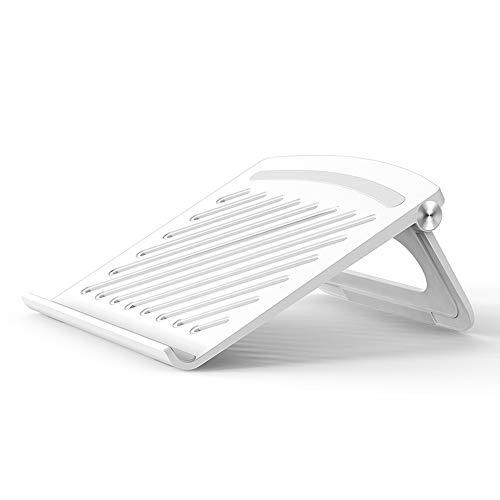 Soporte para ordenador portátil, ajustable para portátil, ergonómico, ventilado, portátil, compatible con portátiles de 11 a 17 pulgadas, color blanco