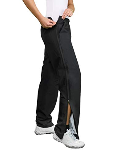 Michaelax-Fashion-Trade Authentic klein - Damen Sport und Freizeithose mit seitlichem Reißverschluss (51002), Größe:42, Farbe:Schwarz (090)