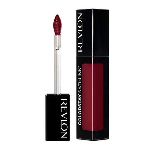 Revlon ColorStay Satin Ink Liquid Lipstick, Longwear Rich Lip Colors, Formulated with Black Currant Seed Oil, 021 Partner in Wine, 0.17 fl. oz.