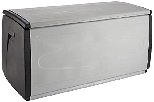 Terry, Box 120 Qblack, Baule Multiuso, da Interno Esterno. Colore: Grigio/Nero, Materiale: Plastica, Dimensioni: 120x54x57 cm, Capacità 308 lt