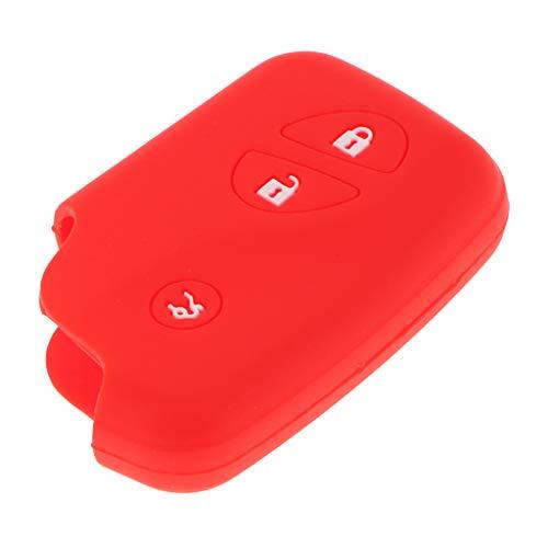 B Blesiya Soporte de Silicona para Cubierta de Llave Rojo para Smart Remote Key Fob Case Shell