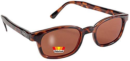 Kd's Sonnenbrillen Polarisierte 20029 Dark Tortoise / Amber - Bikers