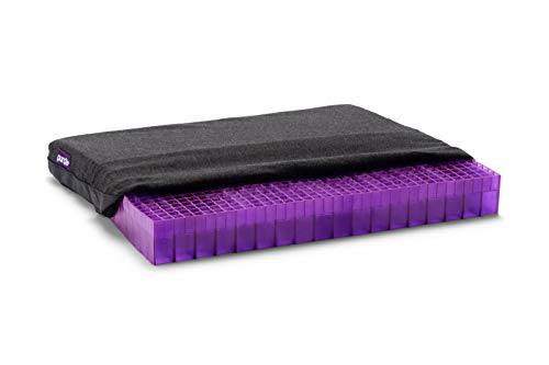 Purple Double Seat Cushion - Seat Cushion for The Car Or Office Chair - Temperature Neutral Grid