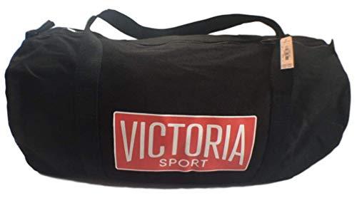Victoria's Secret Weekender Duffle Sport Gym Bag Black Side Mesh Pocket