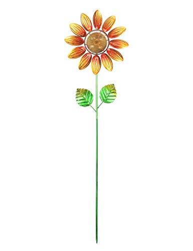 MUMTOP Solar Wind Spinner 33 Inch Sunflower Wind Sculptures for Garden Patio Courtyard Decoration