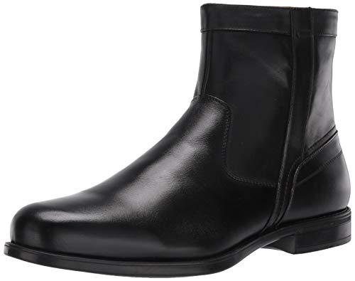 Florsheim Men's Medfield Plain Toe Zip Boot Fashion, black, 12 Wide