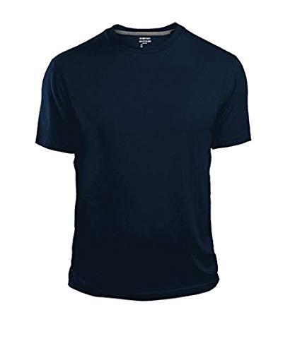 GAP Men's Crew Neck Cotton T Shirt Everyday Quotidien Solid Color (Navy, Medium)