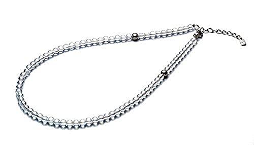 ファイテン(phiten) ネックレス チタン水晶ネックレス(5mm) 50cm(+5cmアジャスター)