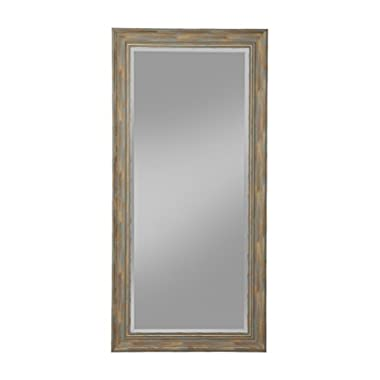 Sandberg Furniture Farmhouse, Full Length Leaner Mirror, Antique Turquoise