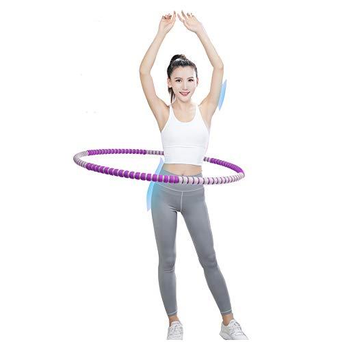 SAHWIN® Hula Hoop Reifen Mit Schaumstoff Von 2.5 Bis 6 Kg Für Schmerzempfindliche Und Profis, Milde Massage Gegen Blaue Flecken Für Fitness