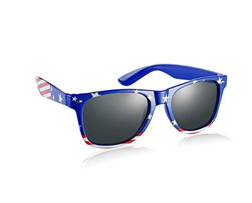 Komonee Estados Unidos Bandera Azul Drifter Style Gafas De Sol UV400 Proteccion Unisexo