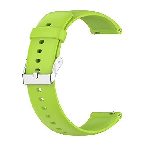 Compatible avec Huawei Watch3/3pro Honor Watch Dream Bands Boucle en Argent Inoxydable Bracelet en Silicone Bracelets Bracelet Ceinture Hommes Femmes Porte-Robe Mini Montre-Bracelet