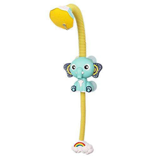 PQZATX Baby Elefant Elektrische Dusche Kinder Badezimmer Cartoon Baby Elefant Automatische Wasserspray Dusche Wasser Spielzeug GrüN