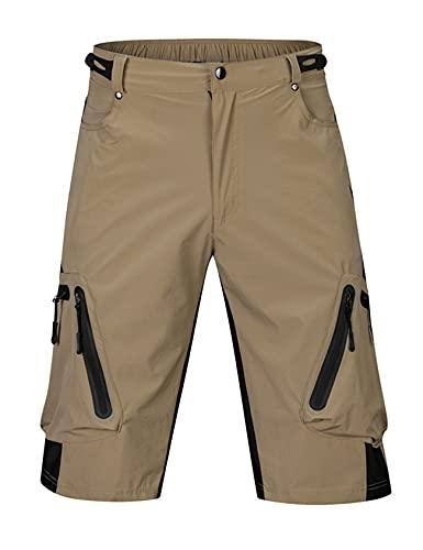 Jueshanzj Ciclismo pantalones para hombre de verano de secado rápido off-road ciclismo al aire libre ropa deportes bicicleta de montaña pantalones cortos ciclismo ropa hombre, caqui, 54