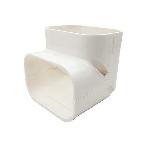 AC Parts 4' W 90-Degree Elbow, Parts Accessories for PVC Line Cover Compatible with Central Air Conditioner, HVAC Heat Pump, Ductless Mini Split 7,000-24,000 BTU Units