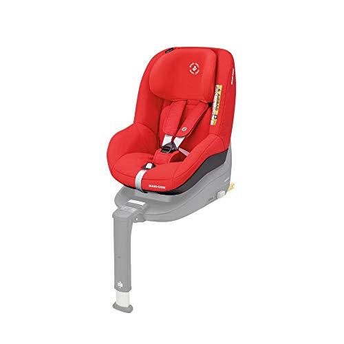 Maxi-Cosi Pearl Smart Kindersitz - rückwärts & vorwärtsgerichtetes Fahren möglich, für ISOFIX-Basis FamilyFix One i-Size, Gruppe 1 (9-18 kg) nutzbar ab 6 Monate - 4 Jahre, Nomad Red (rot)