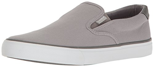 Lugz Men's Clipper Fashion Sneaker, Alloy/Charcoal/White, 9.5 M US