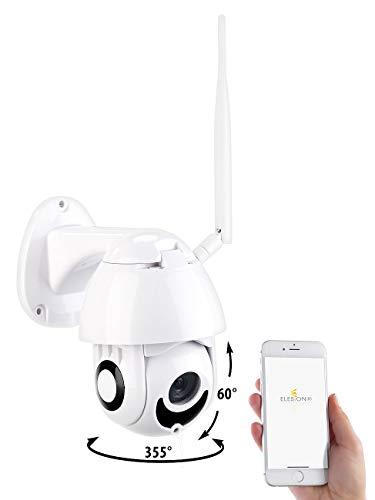 7links Dome Kamera: WLAN-IP-Full-HD-Kamera, Nachtsicht, App, Pan/Tilt, komp. zu Echo Show (Überwachungskameras aussen)