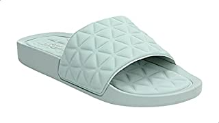Dejavu Quilted Round Toe Slides For Women