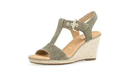 Gabor Shoes Damen Comfort Sport Riemchensandalen, Grün (Oliv (Jute/Naht) 34), 40.5 EU