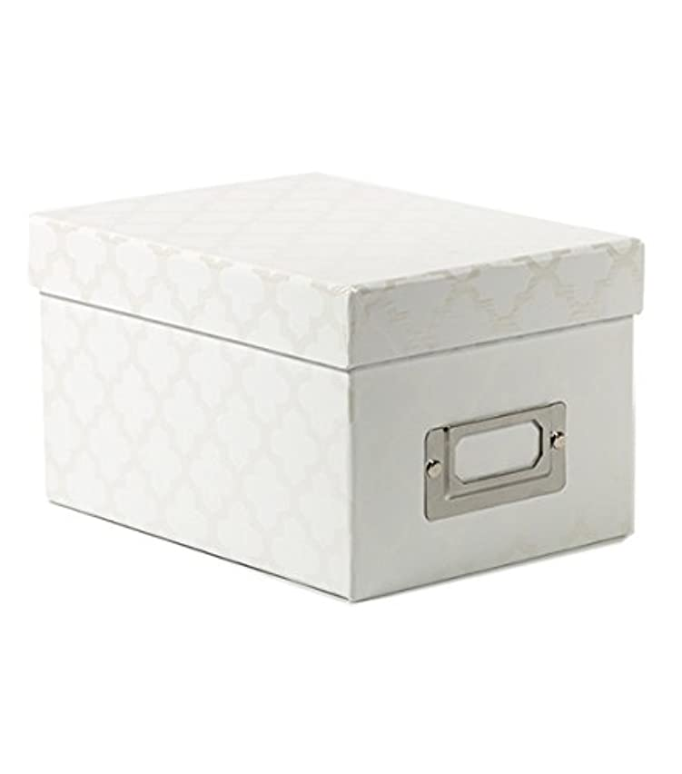 American Crafts Mini Boxes White Quatrefoil Die Cuts with a View
