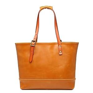 Creator屋本舗 トートバッグ ビジネスバッグ 本革 メンズ 2way ハンドメイド 鞄 キャメル色