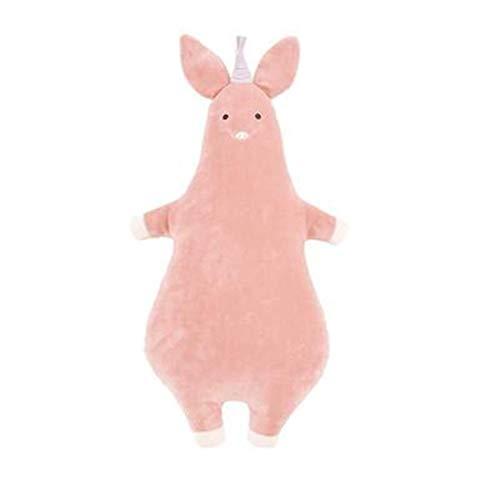 HUOQILIN Pig Plush Toys Cute Simulation Shark Gifts Female Small Dinosaur Plush Pillow Cushions (Color : Pink, Size : L)
