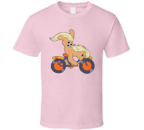 IDEAWIN - Maglietta con scritta 'My Little Pony Tales', colore: Rosa chiaro Marrone M