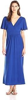 Star Vixen Women's Flutter-Sleeve Maxi Dress