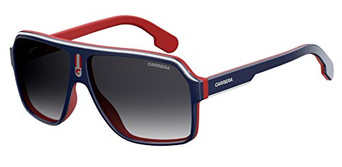 Carrera CA1001/S 08RU/9O 62M Blue Red/Dark Gray Gradient Plastic Aviator Sunglasses For Men For Women+ Free Designer iWear Care Kit