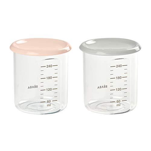 Beaba Lot 2 Maxi porción (2 x 240 ml), color nude/gris