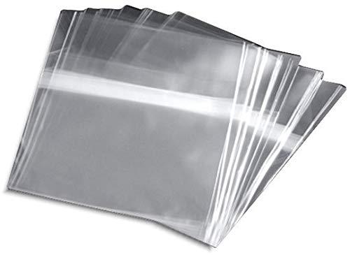 100 Fundas para Proteger CD con Caja AUTOCIERRE Adhesivo - Marca Cuidatumusica - / Ref.2280