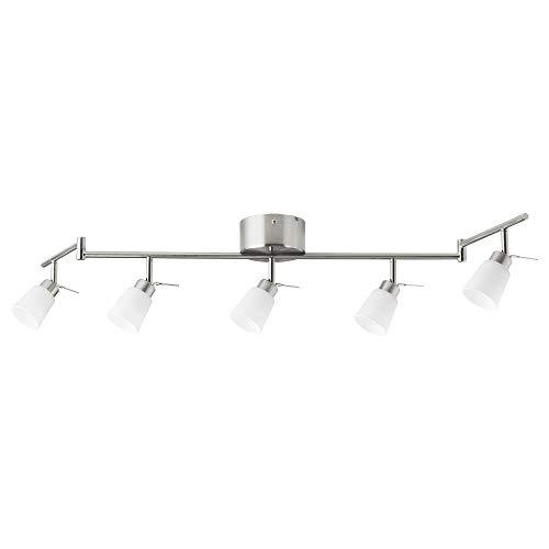IKEA 002.626.57 Deckenleuchte Tidig mit 5 Strahlern, vernickelt