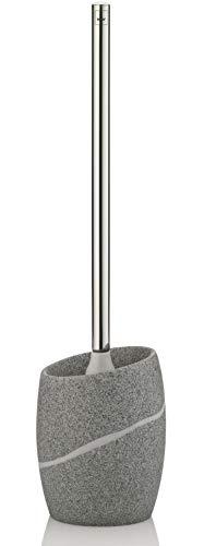 Kela 20258 set porte-brosse WC, polyrésine, gris pierre, 'Talus'