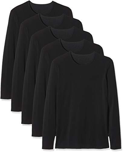 Maglev Essentials Bdx006m5 camisetas hombre, Negro (Black), 110 (Talla del fabricante: Large), Pack de 5