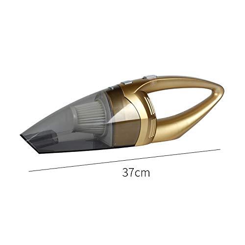 VOANZO Auto-Staubsauger, kabelloser 120-W-Handstaubsauger mit starker Saugkraft, Nass-Trocken-Akku-Staubsauger für Zuhause/Auto (Gold)