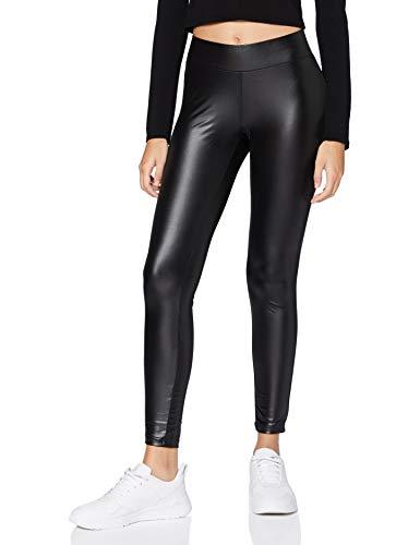 Urban Classics Damen Ladies Imitation Leather Leggings, Black, S