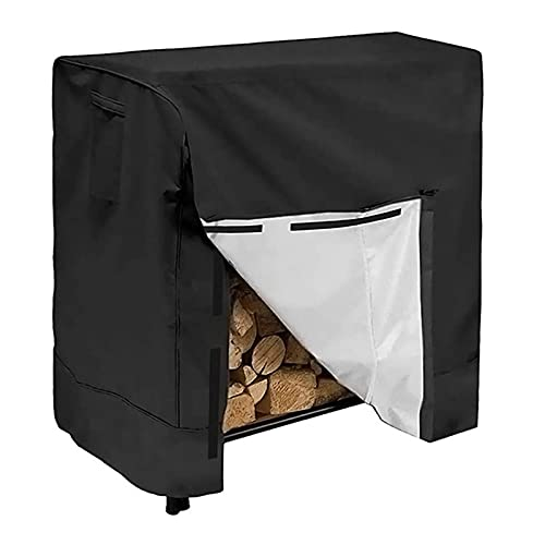 Soporte de pila de madera seca para patio, cubierta impermeable, cubierta impermeable para patio, jardín, leña, soporte para leña, cubierta protectora, negro, redondo y cuadrado,Square 244*61*107cm