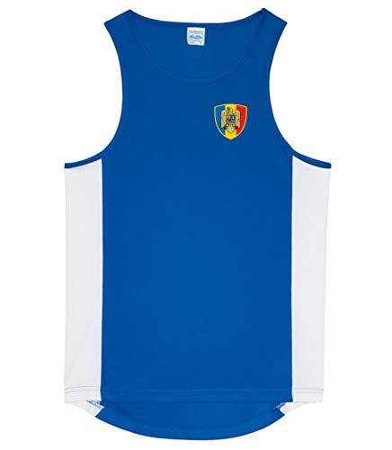 Nation Rumänien Tank Top Trikot Ärmellos Sport Fitness ATH BR-B (M)