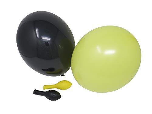50 Luftballons je 25 gelb & schwarz Qualitätsballons 27cm Ø (Standardgröße B85)