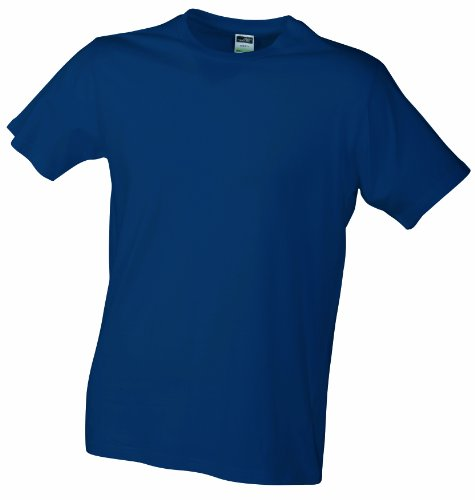 JAMES & NICHOLSON T- Shirt Slim Fit, Bleu (Navy), (Taille Fabricant: Small) Homme