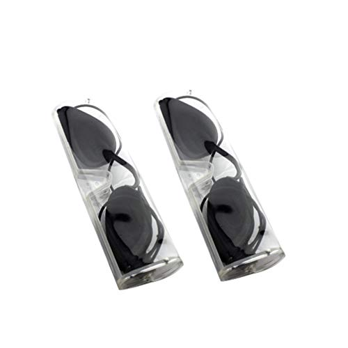 ULTNICE Solariumbrille Lichtschutzbrille Weiche Sonnenschutz Brille Augenklappen Augenschutz für Reise Sonnenbank Patienten IPL Haarentfernung Schwarz 2 Set