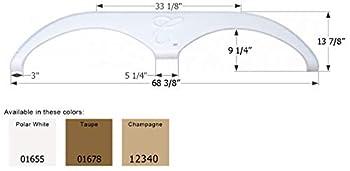 ICON 01655 Tandem Axle Fender Skirt FS785 for Forest River Cardinal - Polar White
