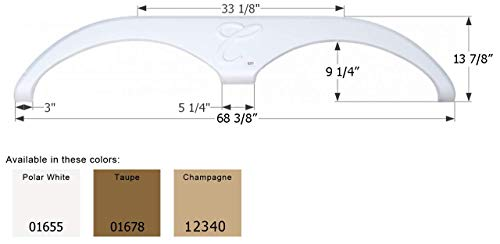 ICON 01678 Tandem Axle Fender Skirt FS785 for Forest River Cardinal - Taupe