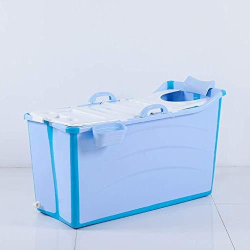 yunyu Bañera Independiente para bebés Cubo de baño Plegable portátil Baño Bañera de hidromasaje para niños Tiempo de Aislamiento prolongado con Cubierta Rosa 50 * 91 * 44 cm