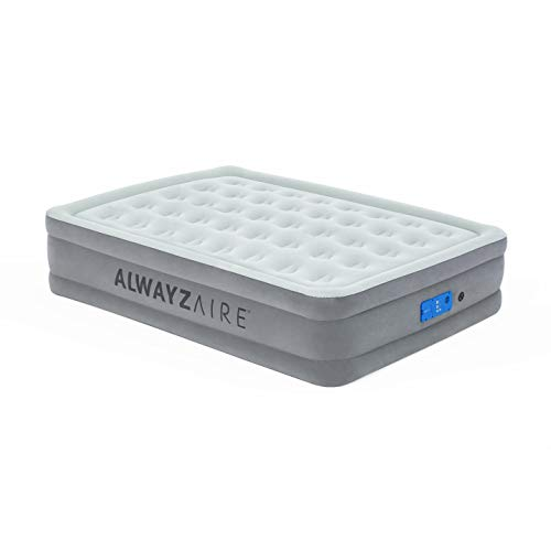 Bestway AlwayzAire Basic Plus Double Bed Self Inflating Air Bed with Electric Pump 203 x 152 x 46 cm