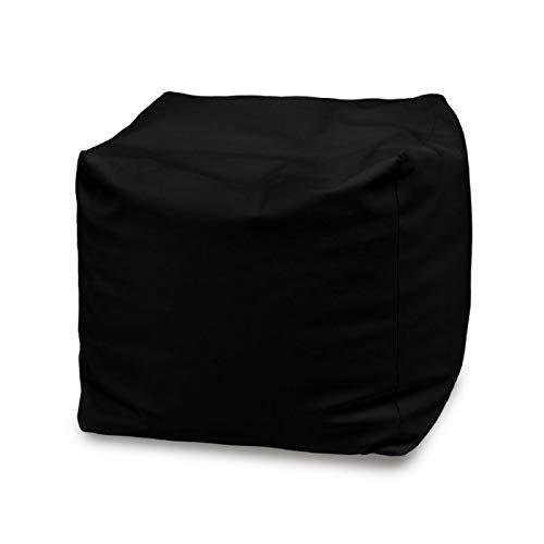 pouf 50x50 Italpouf Pouf Poggiapiedi Cubo 50x50x50 cm Pouf Grande Tessuto Morbido Microfibra!! Puff Sfoderabile! Puf Imbottito! Poggiapiedi Pouf 19 Colori! (Nero)