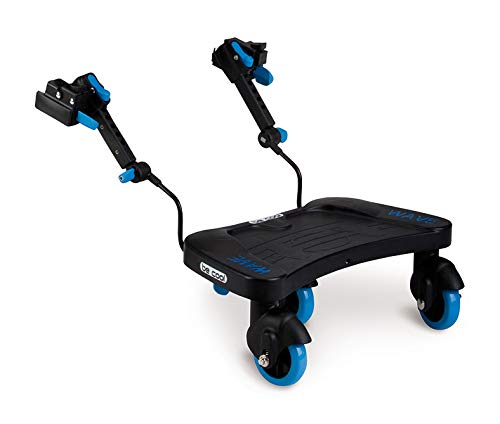 Be Cool Wave Pedana per passeggino o carrozzina, Universale, Nero